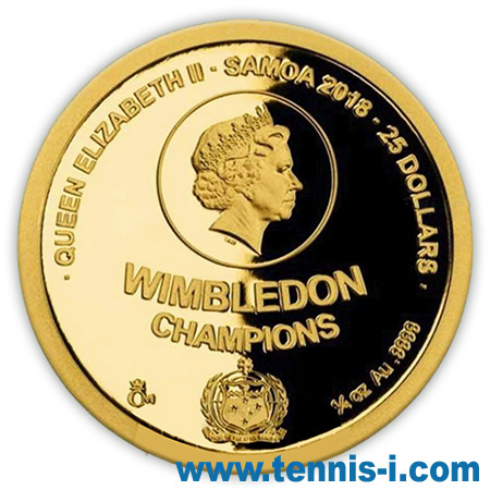 Samoa coin Czech tennis legends 2018 1