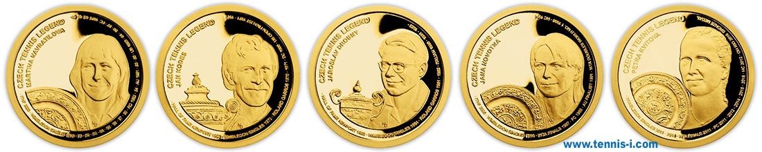 Samoa coin Czech tennis legends 2018