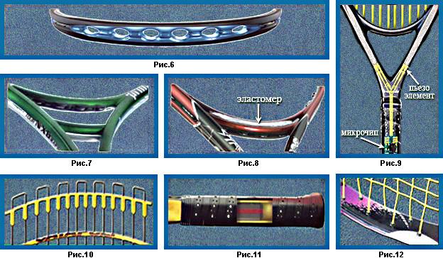 Конструкции демпферов ракетки