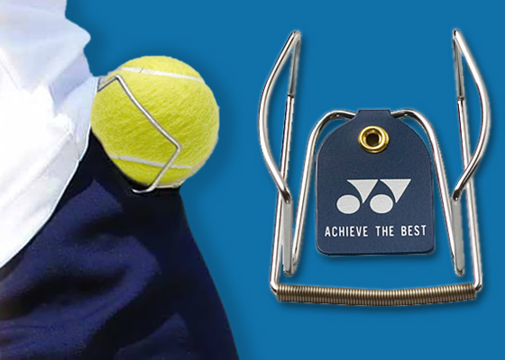 metal holder tennis ball
