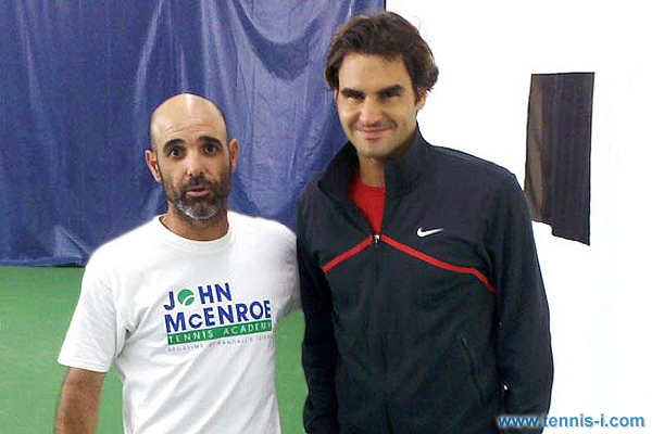Gilad Bloom Roger Federer