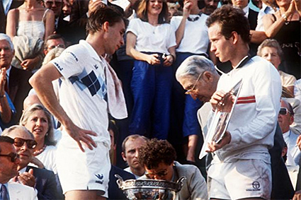 Ivan Lendl John McEnroe French Open 1984