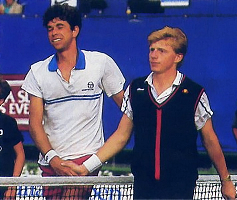 Michiel Schapers Boris Becker Australian Open 1985