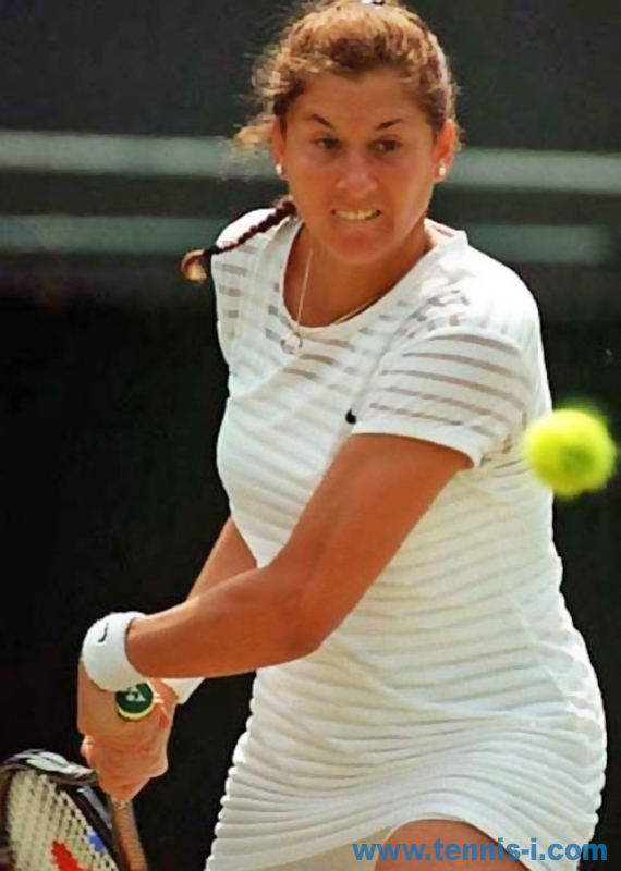 tennis Monica Seles backhand