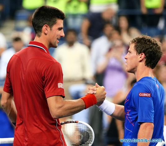 Новак Джокович Диего Шварцман US Open 2014