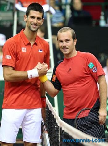 Novak Djokovic Olivier Rochus 2013