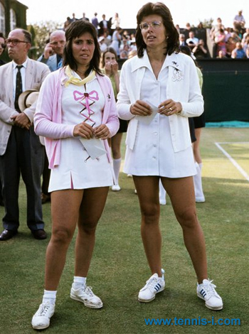 Rosie Casals Billie Jean King