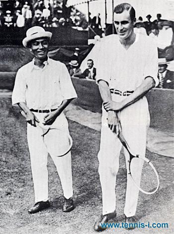 tennis i.com Zenzo Shimizu Bill Tilden 1921