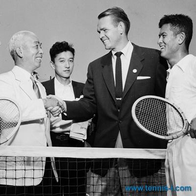 tennis i.com Zenzo Shimizu John Kramer 1954