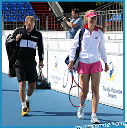 Battle of the sexes, Tomas Muster and Elena Dementieva