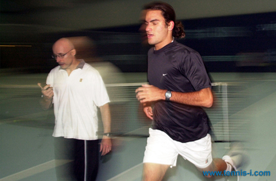 Pierre Paganini Roger Federer 2000