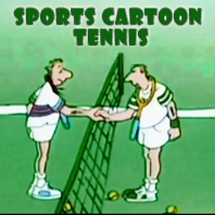 Sports Cartoon Tennis
