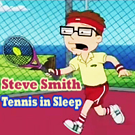 Steve Smith tennis in sleep