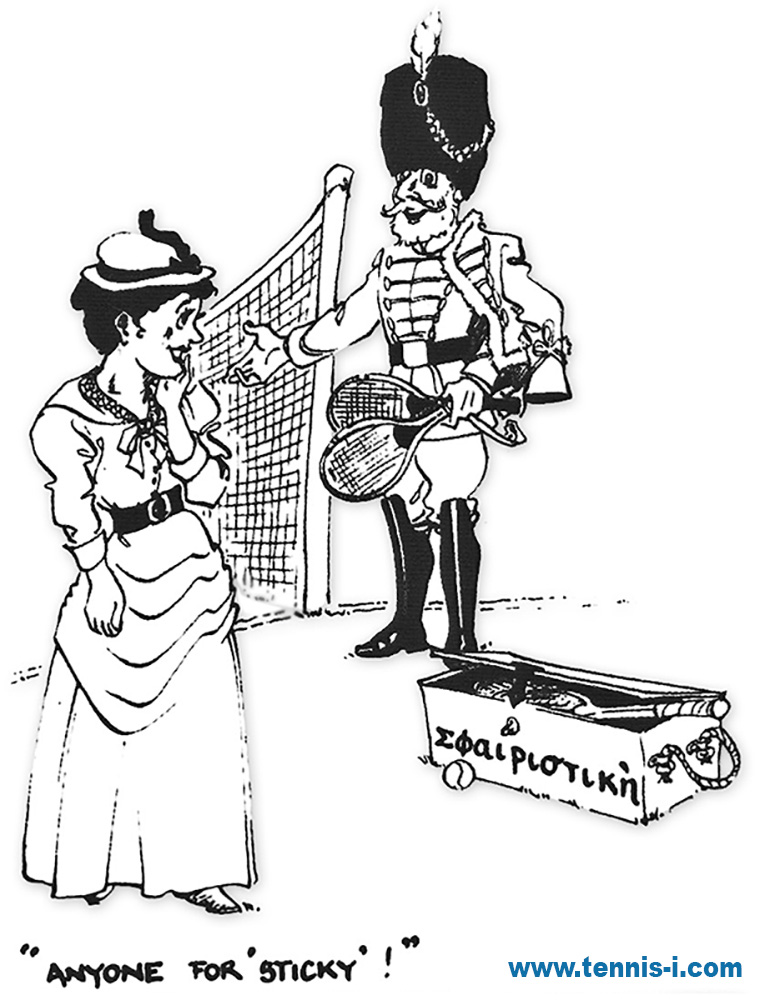 tennis caricature Wingfild 1874