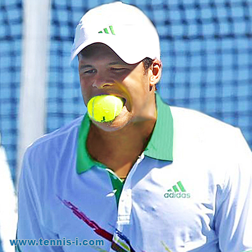 tennis Jo Wilfried Tsonga ball