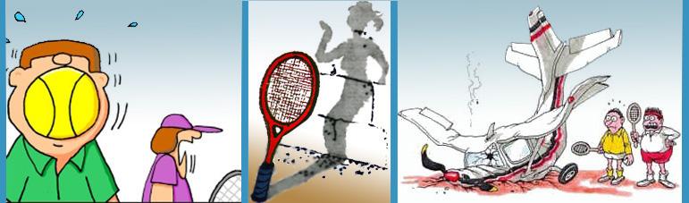 Теннисный юмор, веселые картинки