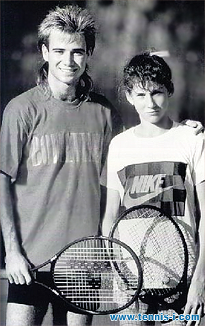 Andre Agassi Monica Seles