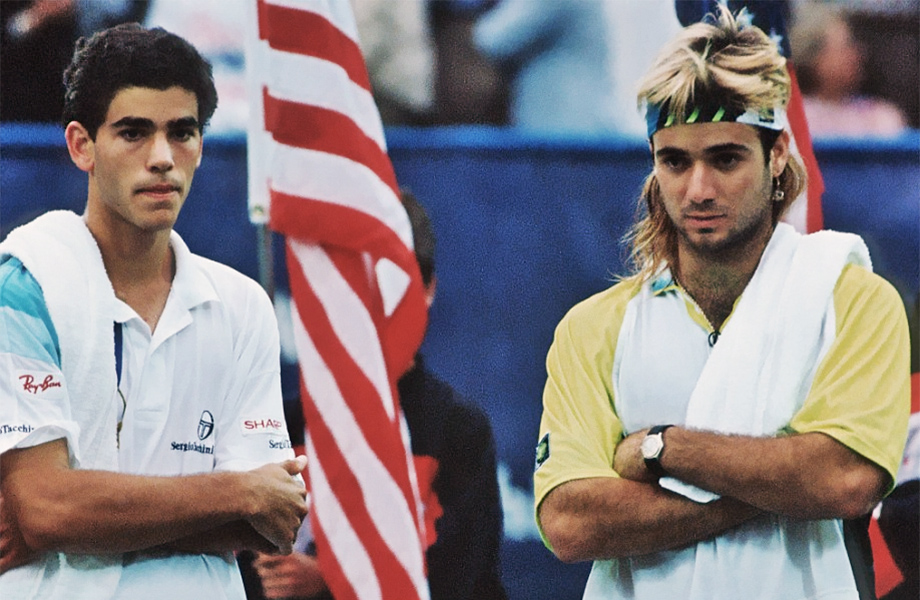 Andre Agassi Pete Sampra US Open 1990