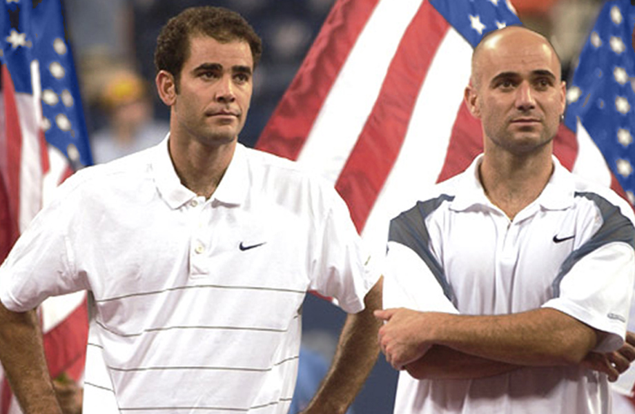 Andre Agassi Pete Sampra US Open 2002