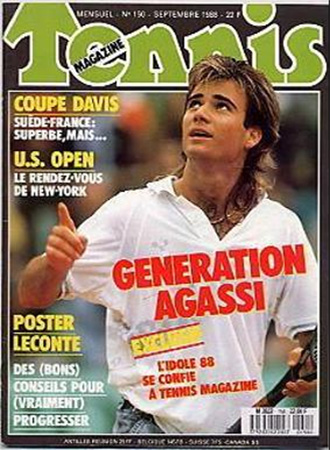 Andre Agassi Tennis Magazine N150 09.1988