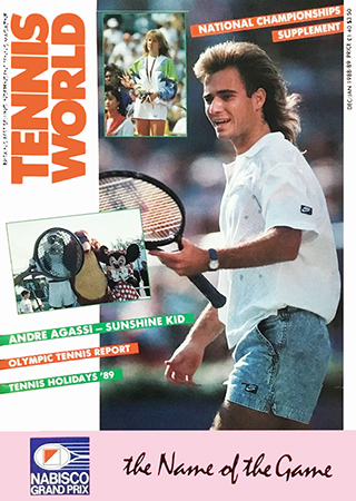 Andre Agassi Tennis World 12 01.1988 89