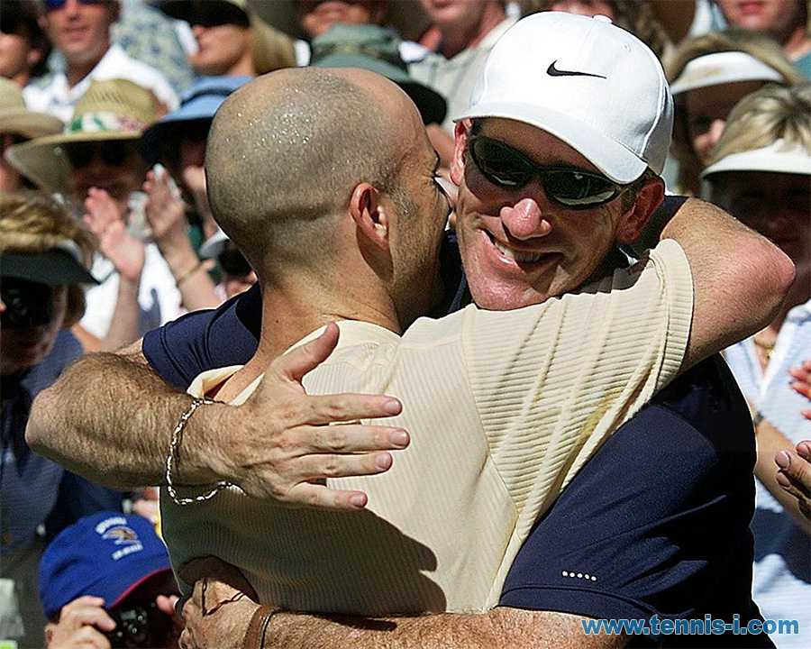 Brad Gilbert Andre Agassi Indian Wells 18.03.2001