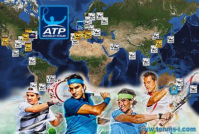 tennis Tournaments of professional mens