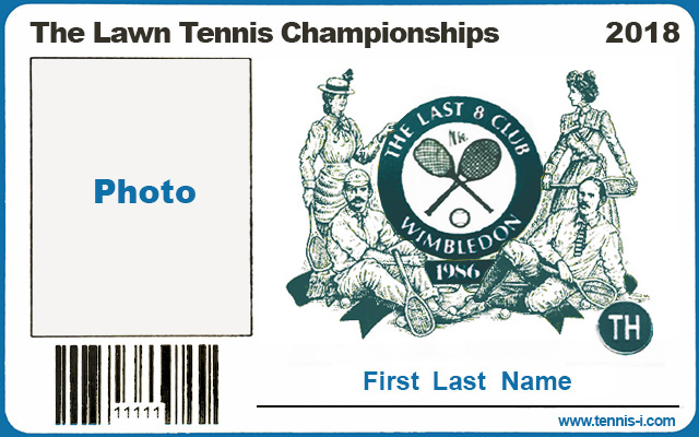 Wimbledon photo-pass Last 8 Club