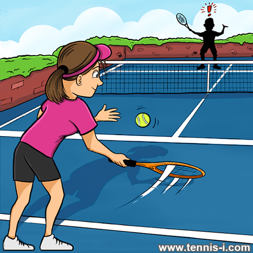 tennis underhand serve