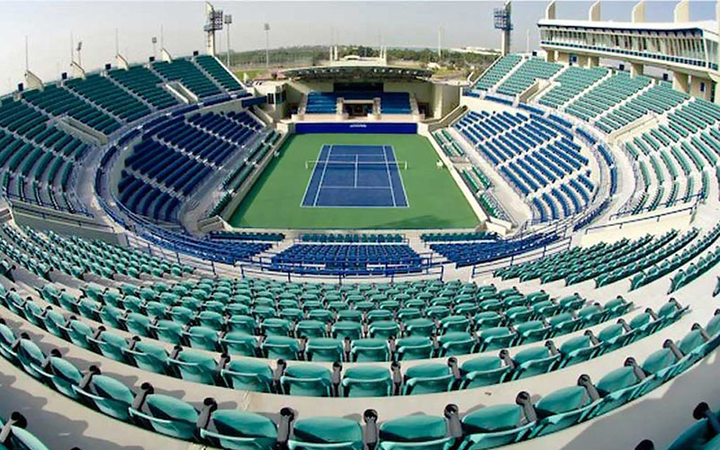 Абу-Даби теннис корты Abu Dhabi international tennis