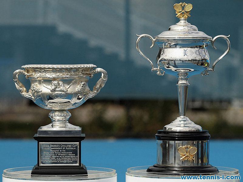tennis Australian Open trophies
