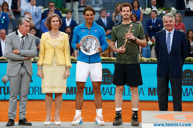 tennis Manolo Santana Queen Sofia Rafael Nadal Andy Murray Ignacio Garralda Madrid 2015
