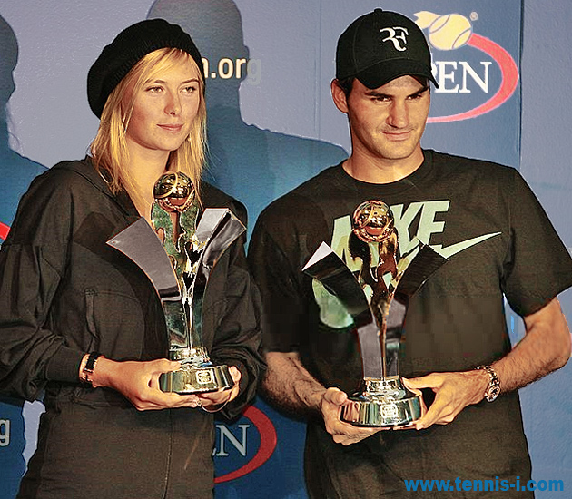 Мария Шарапова Роджер Федерер US Open Series 2007