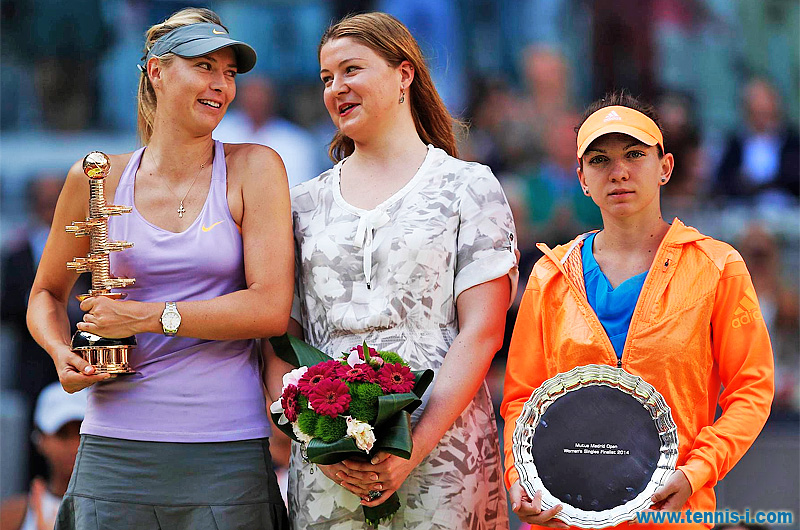 Мария Шарапова Динара Сафина Симона Халеп Мадрид Madrid Open 2014