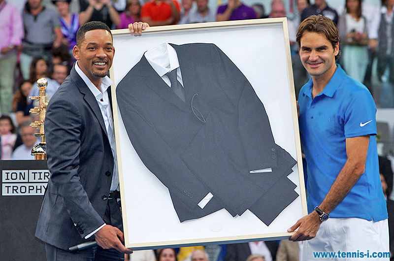 Will Smith Roger Federer Madrid Open 13.05.2012