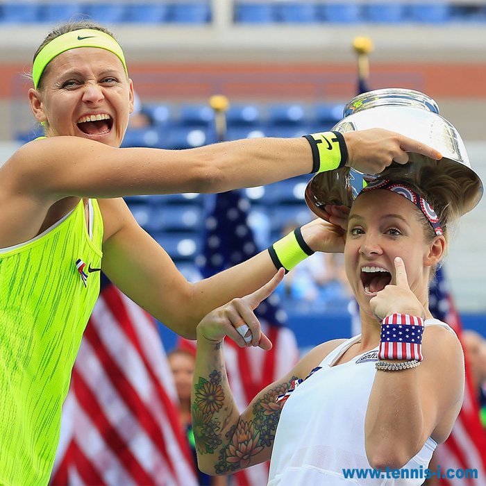 Safarova Mattek Sands US Open 2016