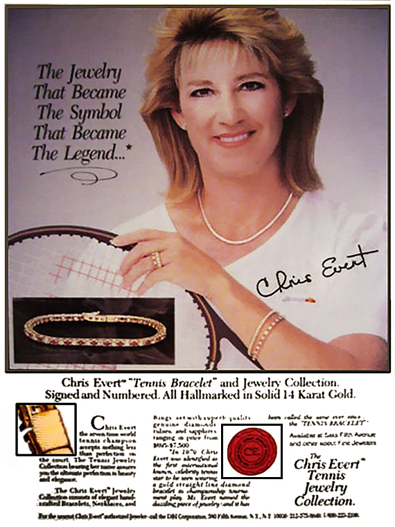 tennis i.com tennis bracelet Chris Evert 2